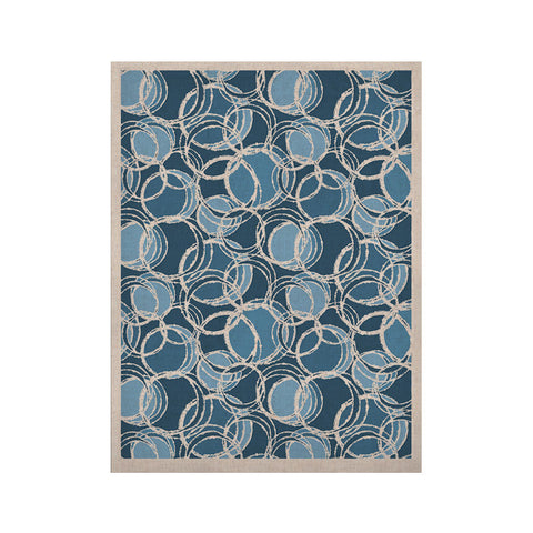 "Julia Grifol ""Simple Circles in Blue"" KESS Naturals Canvas (Frame not Included) - KESS InHouse  - 1"