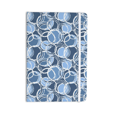 "Julia Grifol ""Simple Circles in Blue"" Everything Notebook - KESS InHouse  - 1"