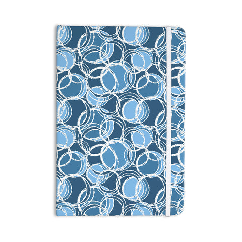 "Julia Grifol ""Simple Circles in Blue"" Everything Notebook - Outlet Item"
