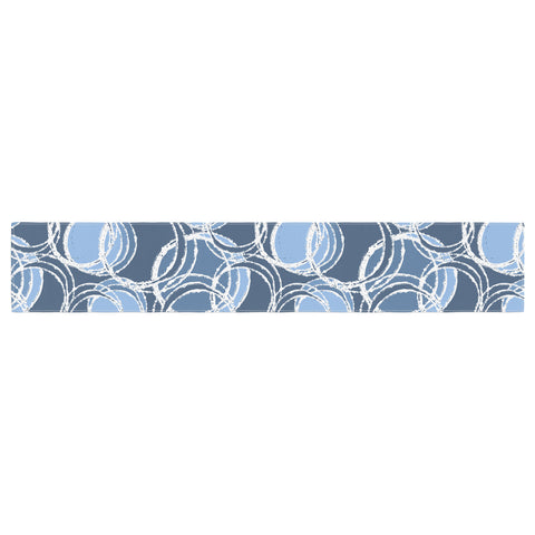 "Julia Grifol ""Simple Circles in Blue"" Table Runner - KESS InHouse  - 1"