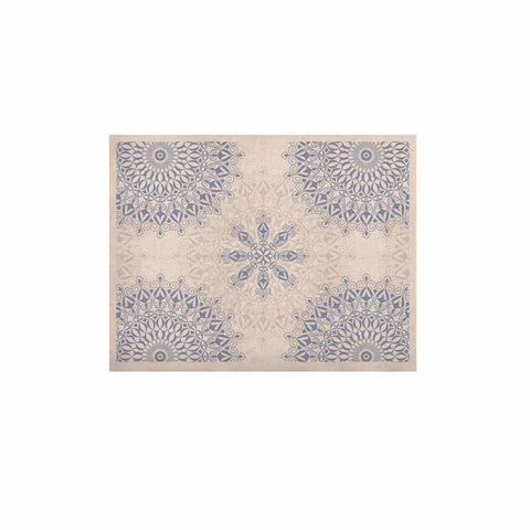 "Julia Grifol ""Mandalas In Blue"" Vector Geometric KESS Naturals Canvas (Frame not Included) - KESS InHouse  - 1"