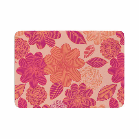 "Julia Grifol ""Lovely Flowers"" Pastel Magenta Digital Memory Foam Bath Mat"