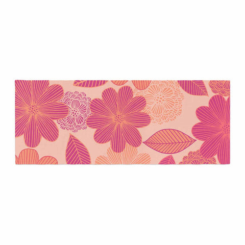 "Julia Grifol ""Lovely Flowers"" Pastel Magenta Digital Bed Runner"