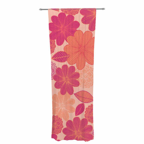 "Julia Grifol ""Lovely Flowers"" Pastel Magenta Digital Decorative Sheer Curtain"