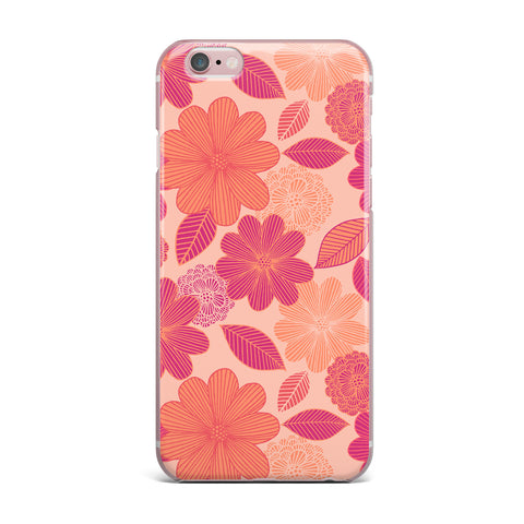 "Julia Grifol ""Lovely Flowers"" Pastel Magenta Digital iPhone Case"