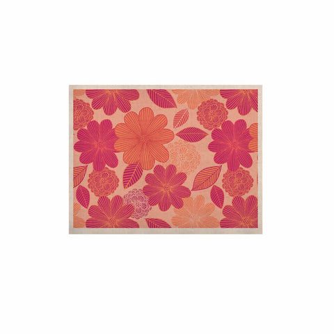 "Julia Grifol ""Lovely Flowers"" Pastel Magenta Digital KESS Naturals Canvas (Frame not Included)"
