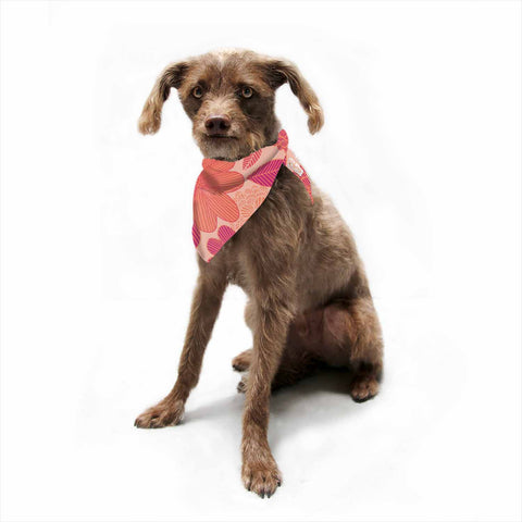 "Julia Grifol ""Lovely Flowers"" Pastel Magenta Digital Pet Bandana"