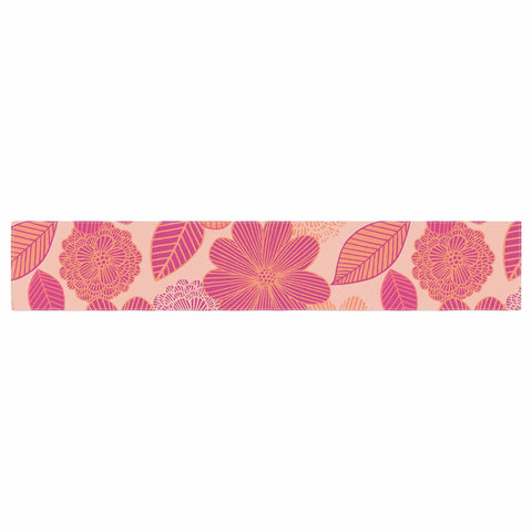 "Julia Grifol ""Lovely Flowers"" Pastel Magenta Digital Table Runner"