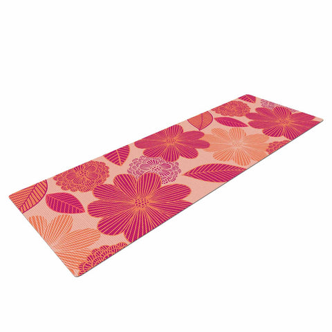 "Julia Grifol ""Lovely Flowers"" Pastel Magenta Digital Yoga Mat"