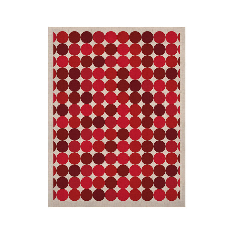 "KESS Original ""Noblefur Red"" Dots KESS Naturals Canvas (Frame not Included) - KESS InHouse  - 1"