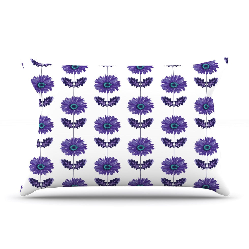 "Laura Escalante ""Purple Gerbera"" Lavender Flower Pillow Sham - KESS InHouse"