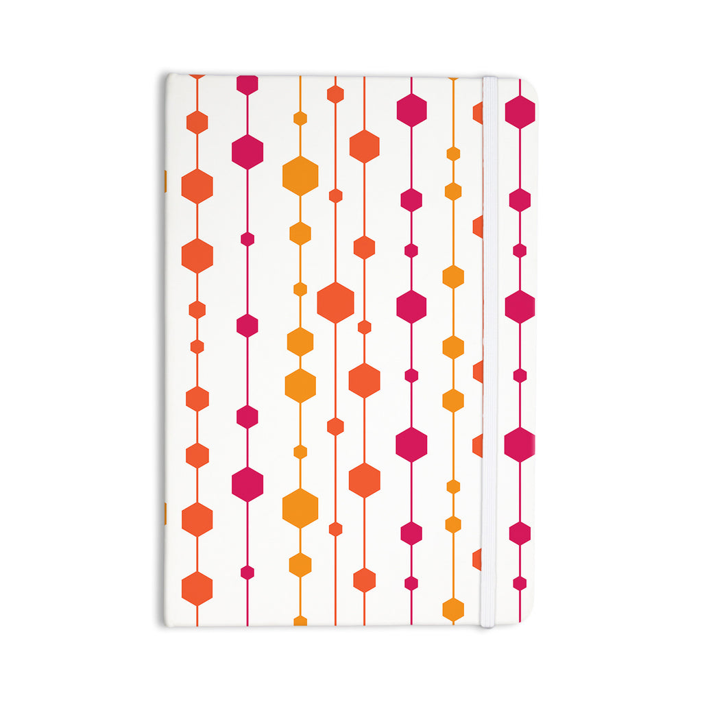 "NL Designs ""Warm Dots"" White Pattern Everything Notebook - KESS InHouse  - 1"