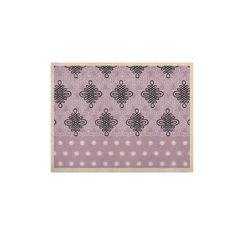 "NL designs ""Lavender Damask And Polkadot"" Purple Lavender Damask Polkadot Digital Illustration KESS Naturals Canvas (Frame not Included)"