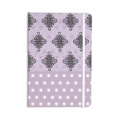 "NL designs ""Lavender Damask And Polkadot"" Purple Lavender Damask Polkadot Digital Illustration Everything Notebook"