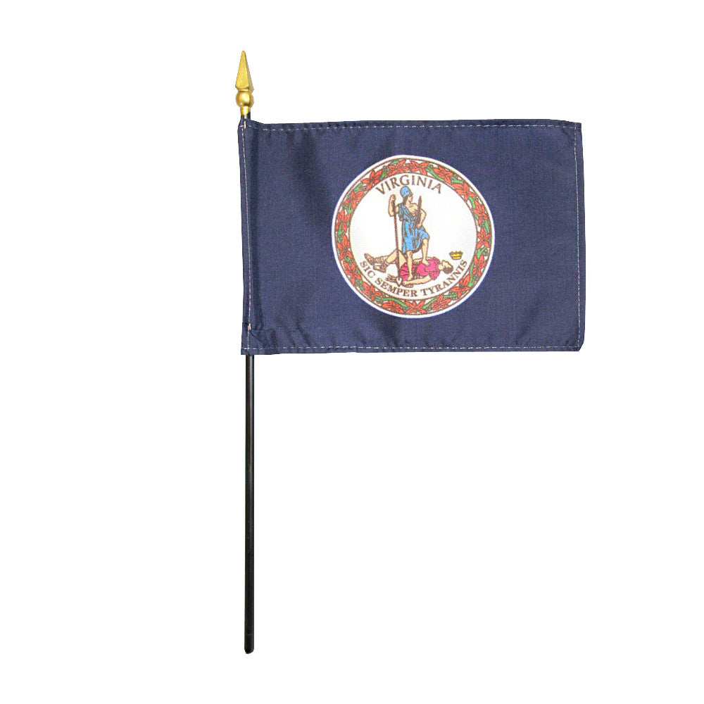 Miniature Flag - Virginia - ColorFastFlags | All the flags you'll ever need!