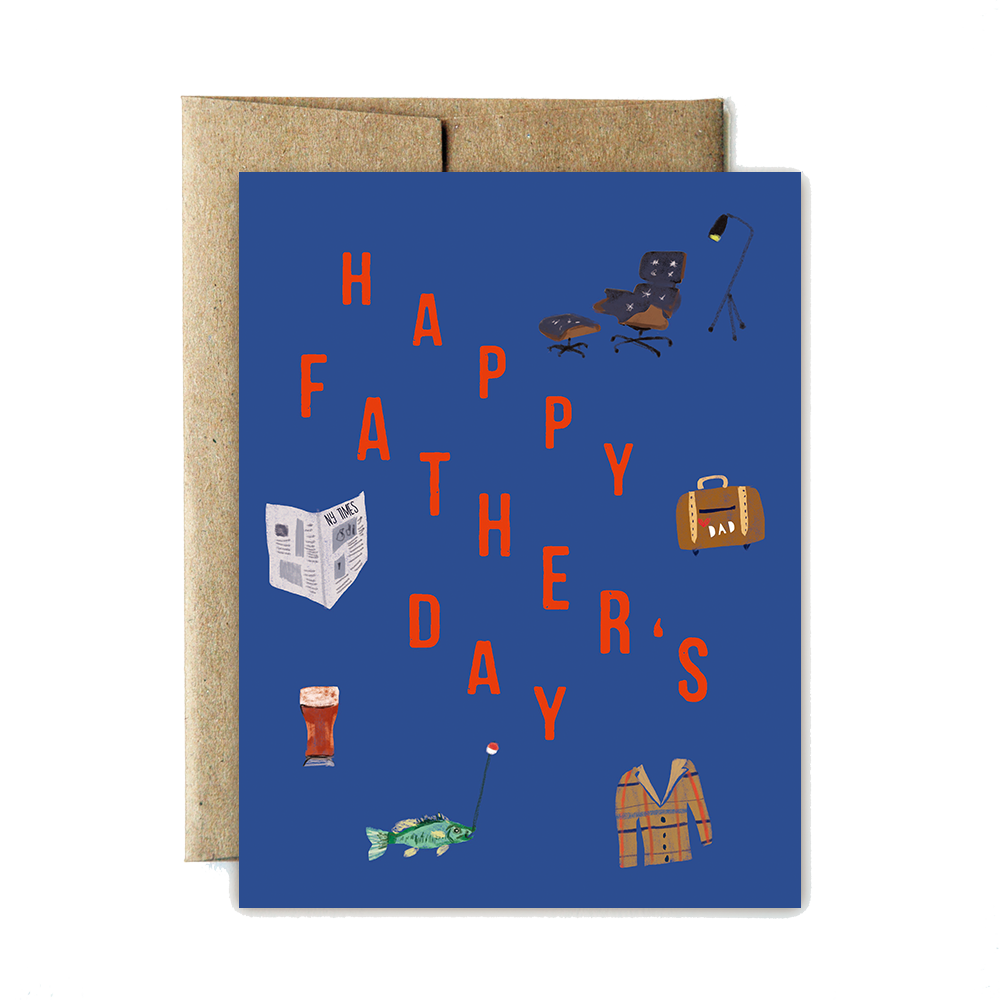 Iconic father's day card