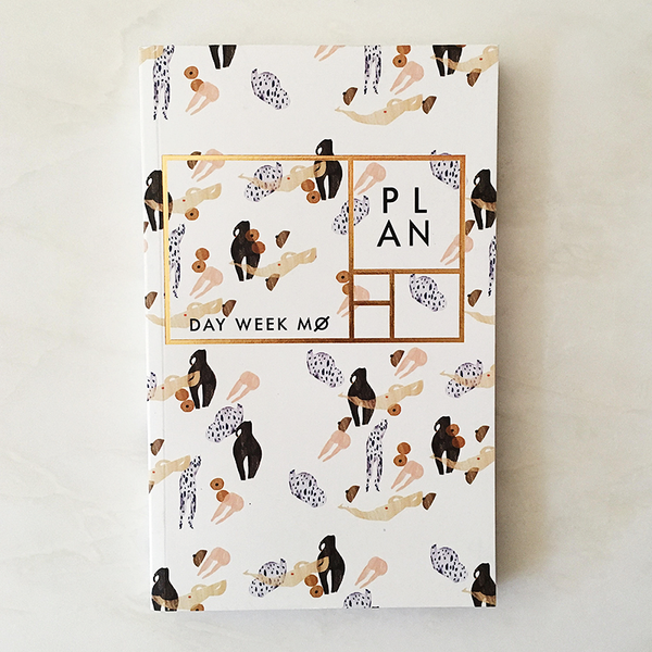 "Body parts year-less planner - ""Year of the Woman"""