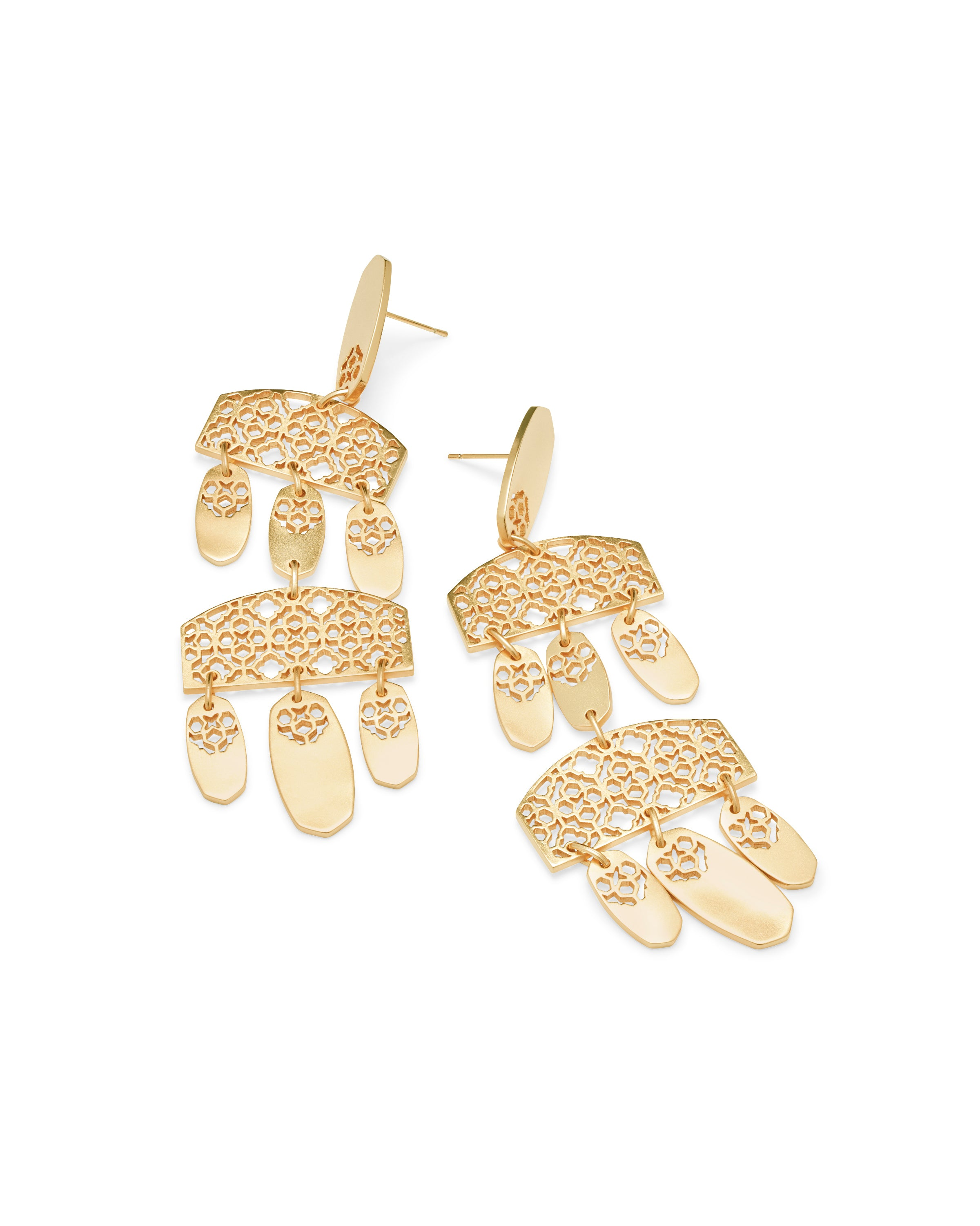 Kendra Scott Emmet Earring in Gold Filigree Metal
