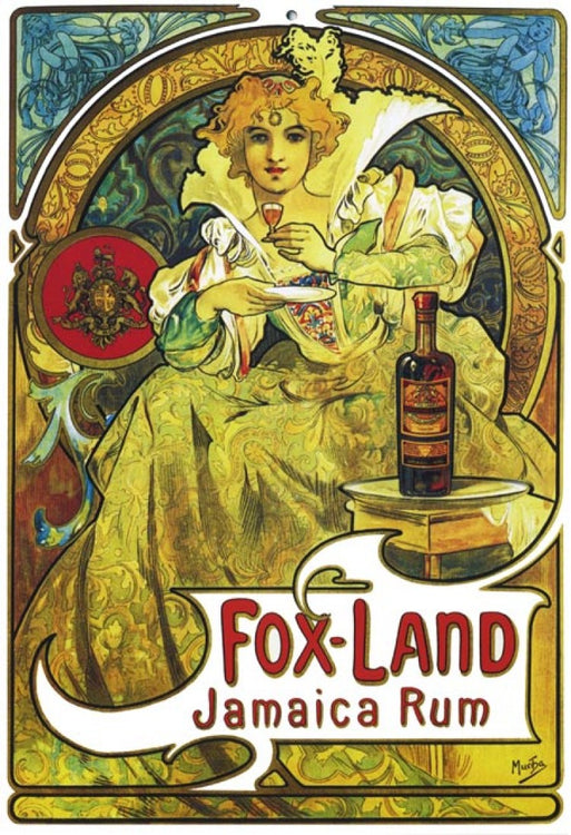 Fox-Land Jamaica Rum • Paris 1897 By Alphonse Mucha