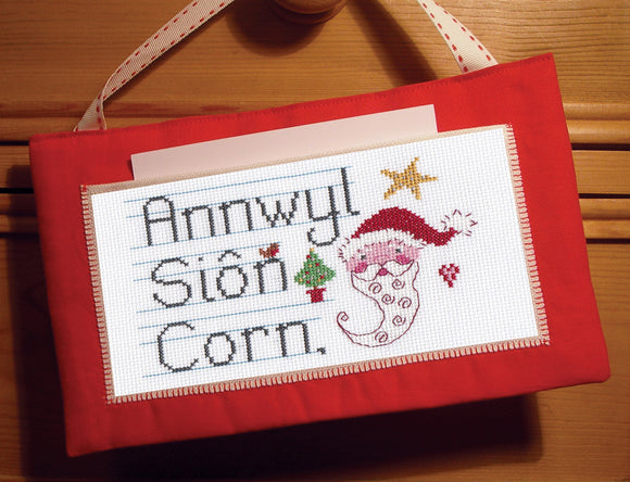 'Annwyl Siôn Corn' cross stitch chart