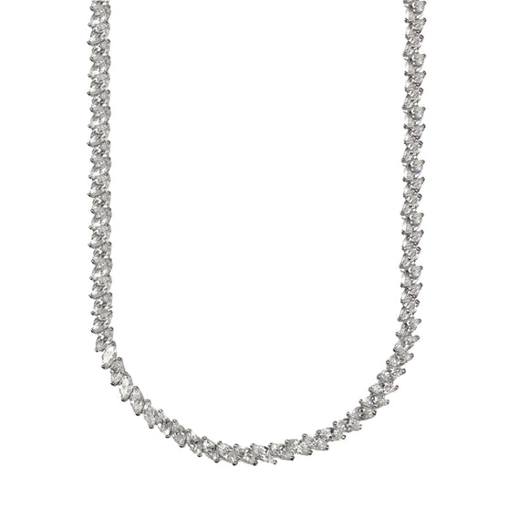 Demeter Necklace (Rhodium)