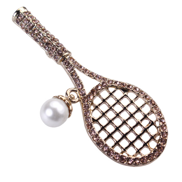Tennis Racket Brooch