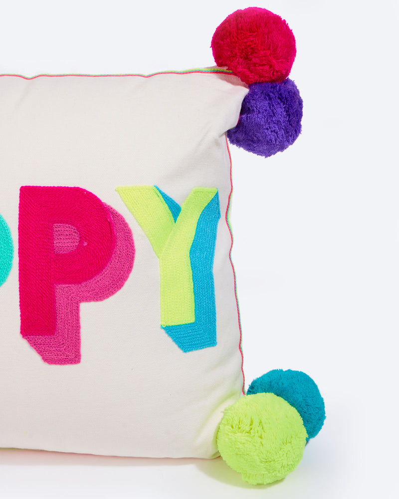 Happy Multicoloured Cushion