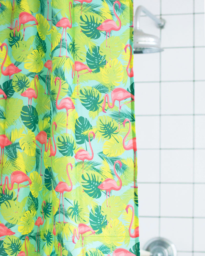 Kitsch Kitchen Flamingo Shower Curtain