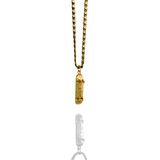 'Skate Mom' Skateboard pendant - 14K Solid Gold