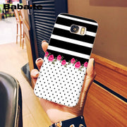 Babaite Pink Umbrella Bow On Polka Dots Novelty Fundas Phone Case Cover For Samsung S9 S7 S6 S5 S8 S9 Plus S8 Plus S6 Edge