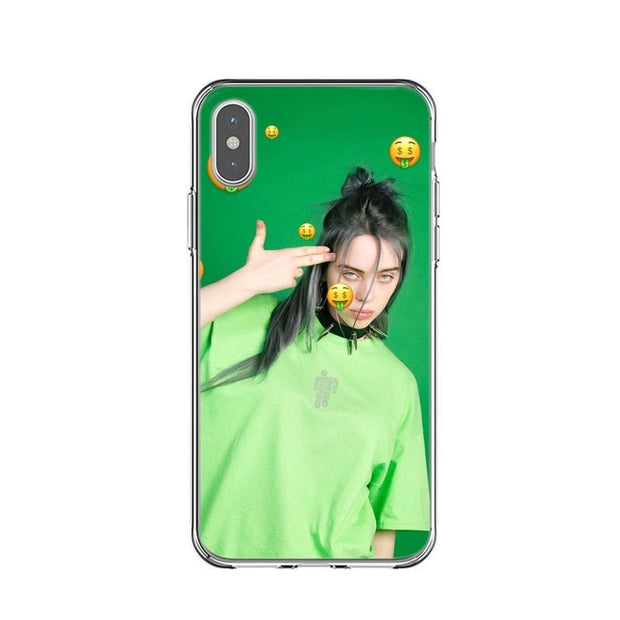 Billie Eilish Rainbow Blohsh Ocean Eyes Soft TPU Silicone Back Cover Phone Case For IPhone X 5 5S SE 6 6SPlus 7 8 Plus XS MAX XR