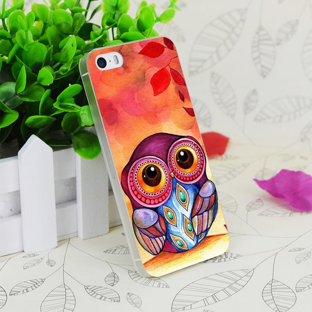 C0865 Owl S First Fall Leaf Transparent Hard Thin Case Skin Cover For Apple IPhone 4 4S 4G 5 5G 5S SE 5C 6 6S Plus