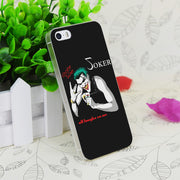 C2587 All Laughz On Joker Transparent Hard Thin Case Skin Cover For Apple IPhone 4 4S 4G 5 5G 5S SE 5C 6 6S Plus