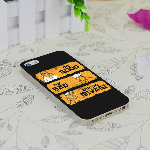 C4041 Good, Bad, Miyagi Transparent Hard Thin Case Skin Cover For Apple IPhone 4 4S 4G 5 5G 5S SE 5C 6 6S Plus