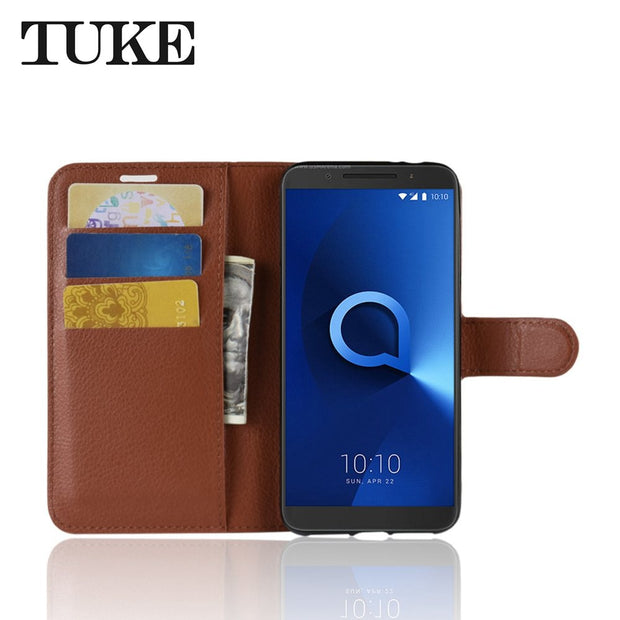 Case For Alcatel 3 Case Flip Luxury Wallet PU Leather Phone Case For Alcatel 3 Case Back Cover