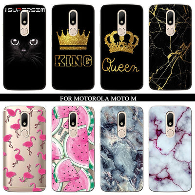 Case For Motorola Moto M Case Phone Silicone Ultra Thin Soft TPU Rubber Fundas Transparent Clear Back Cartoon Print Cover