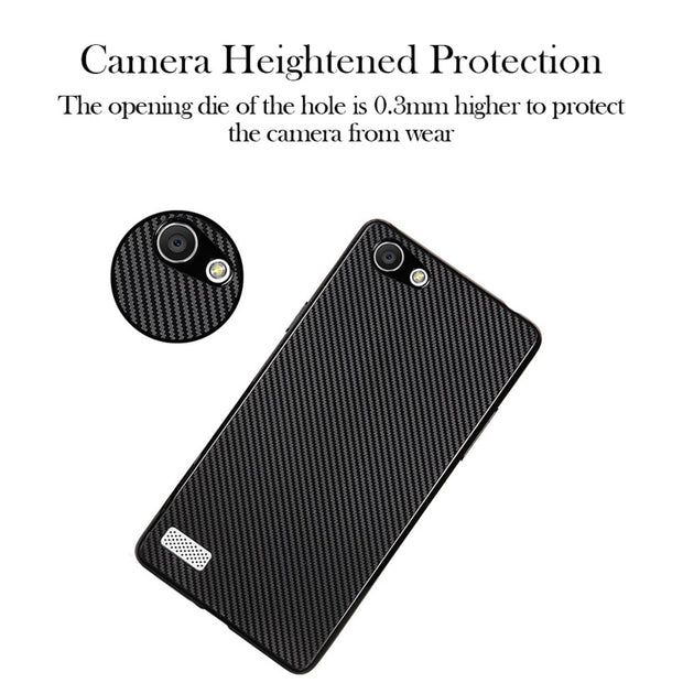 Caynes Silicon Cases For Oppo A33 A33T Case Carbon Fiber Covers For Oppo Neo 7 Anti-Knock Cover Shell Back Housing