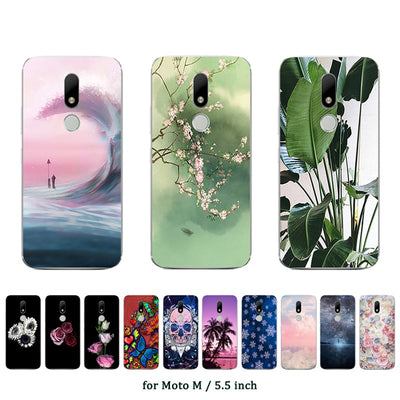 For Case Motorola Moto M Cover Silicone Coconut Printed Case For Motorola Moto M Case For Moto M XT1662 Phone Bag