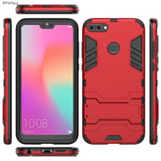 "For Huawei Honor 9i 2018 Case 5.84"" Armor Shockproof PC+TPU Hybrid Kickstand Protective Cover For Huawei Honor 9i LLD-AL20 Funda"