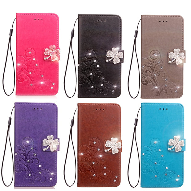 For Motorola Moto M Case 5.5 Inch Wallet PU Leather Phone Case For Motorola Moto M XT1662 XT1663 Case Cover Flip Silicone Bag