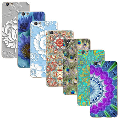 "For OPPO F1S / OPPO A59/OPPO Find 9 5.5"" Printed Case Luxury Hard Plastic Drawing Phone Shell For OPPO F1S Flower Back Cover"