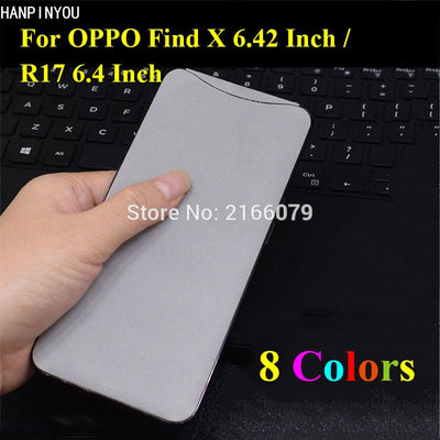 "For OPPO Find X 6.42"" Luxury Plush Surface Full Back Cover Protective Suede Sticker Skin Decal Film"