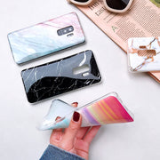 For Samsung Galaxy A7 2018 Marble Phone Case Etui On For Samsung A7 2018 A750 A750F SM-A750F Luxury Silicone Soft Cover Coque