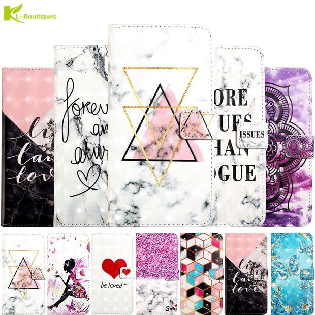 For Samsung Galaxy J3 2016 SM-J310 3D Marble Etui On For Fundas Samsung J3 2017 J330 Case Flip Wallet Leather Stand Cover Coque