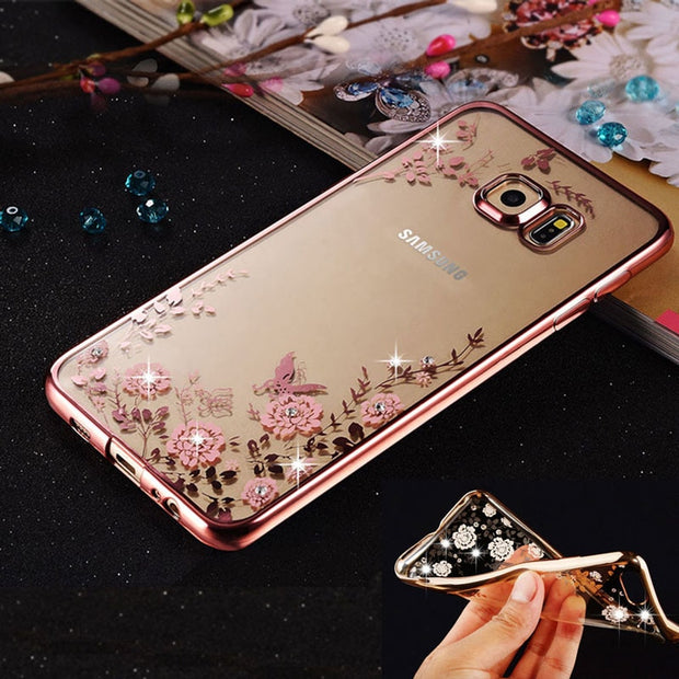 For Samsung Galaxy Note 9 Case Cover Plating Secret Garden Luxury Diamond Tpu Case For Samsung Note9 Phone Back Cases Coque Capa