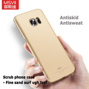 For Samsung Galaxy S7 Edge Case MSVII Coque For Samsung Galaxy S8 Plus Case S7 S8 Edge Scrub Cover For Samsung S8 S7 Edge Cases