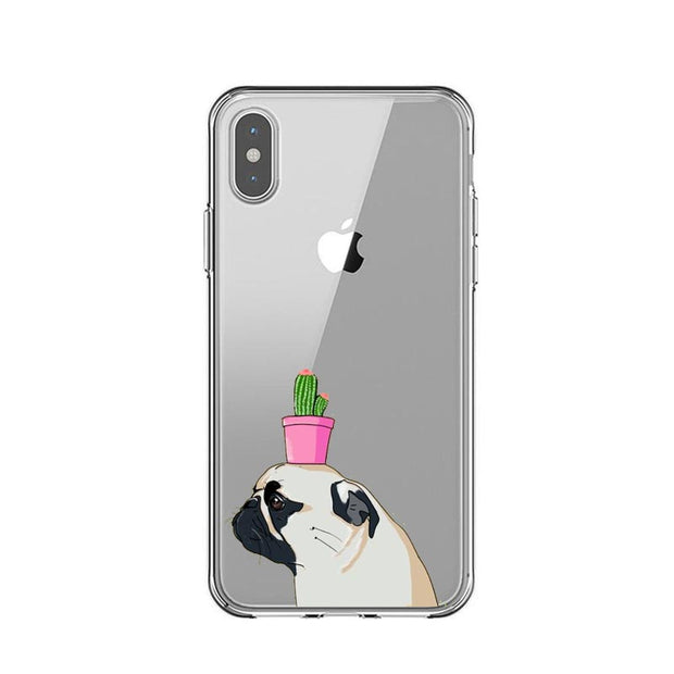 French Bulldog Cute Love Puppy Dachshunds Silicone Back Cover Phone Cases For Iphone X 5 5S SE 6 6S Plus 7 8 Plus XS XR XS Max