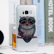 High Transparent Cartoon Shockproof Case For Samsung Galaxy S8 Plus Glitter Powder Soft TPU Back Cover Case For Galaxy S7 Edge