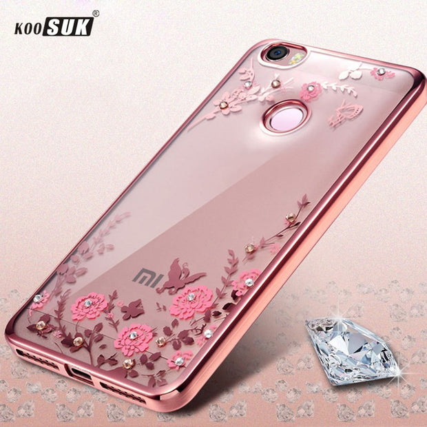 Luxury Soft Back Cover Case For Xiaomi Redmi 6 Protector Flower Coque For Redmi 6 Redmi6 TPU Phone Cases Coque KOOSUK