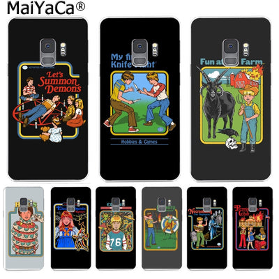 MaiYaCa Humor 70s Artwork By Steven Rhodes Retro Colorful Phone Case For Samsung S9 S9 Plus S5 S6S6edge S6plus S7S7edge S8S8plus